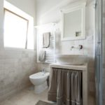 The ensuite is modern and tastefully decorated