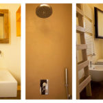 Villa Cali's bathrooms are modern with a natural feel