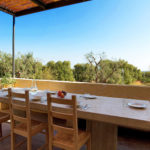 Outside dining area to enjoy your olive grove view and fresh local delicacies
