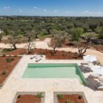 The villa is enclosed by acres of Pugliese olive groves