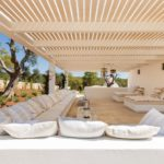 A covered outside terrace is perfect for daytime shade or evening socialising