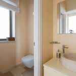 One of the light and airy bathrooms