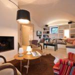 Tasteful, clean and elegant interior living space at Villa Mirage