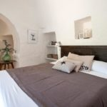 Beautiful master bedroom in the trullo