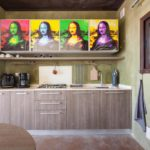 Pop art meets modern kitchen will give you a smile bigger than Mona Lisa's