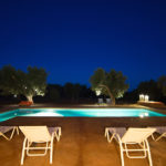 The pool is lit at night for your evening swims!