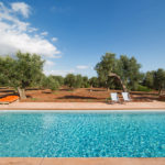 The beautiful pool at Villa Laura, nestled into the Puglia countryside