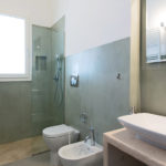This bathroom is a great size, and has a contemporary feel