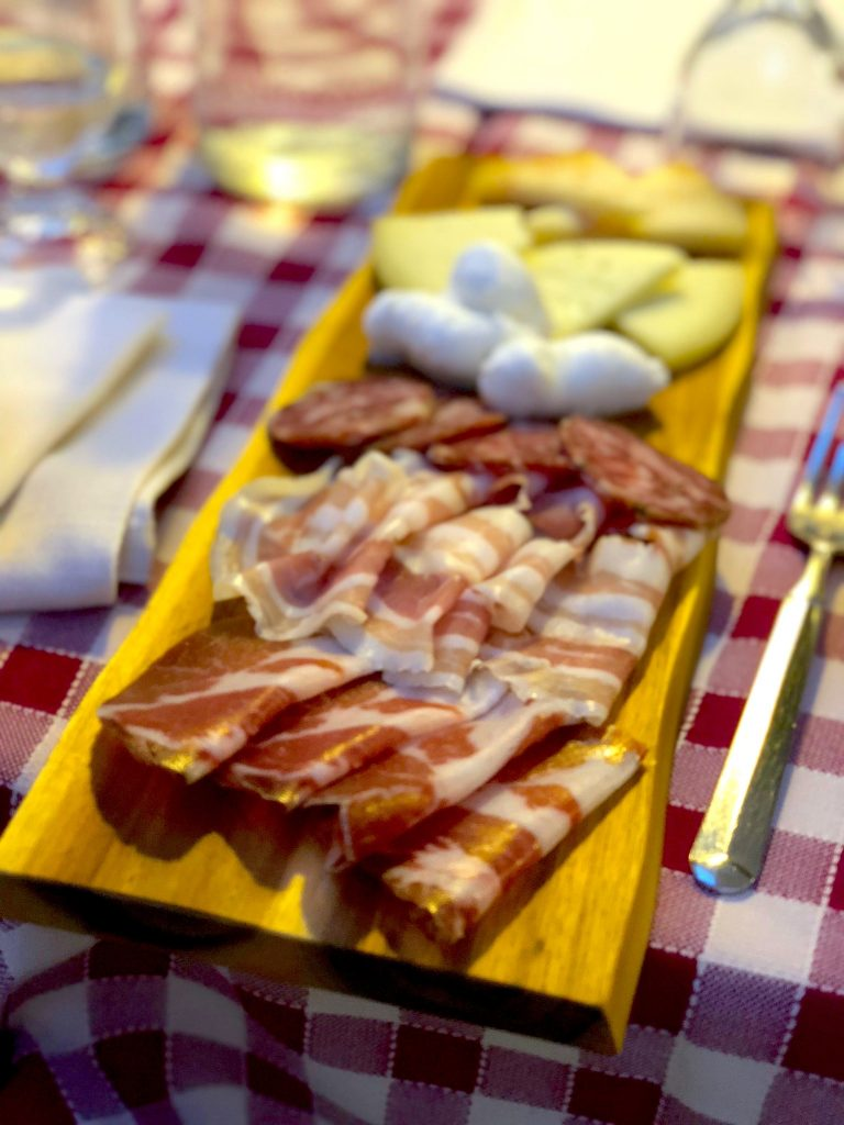 Food in Puglia - Capocollo and antipasti