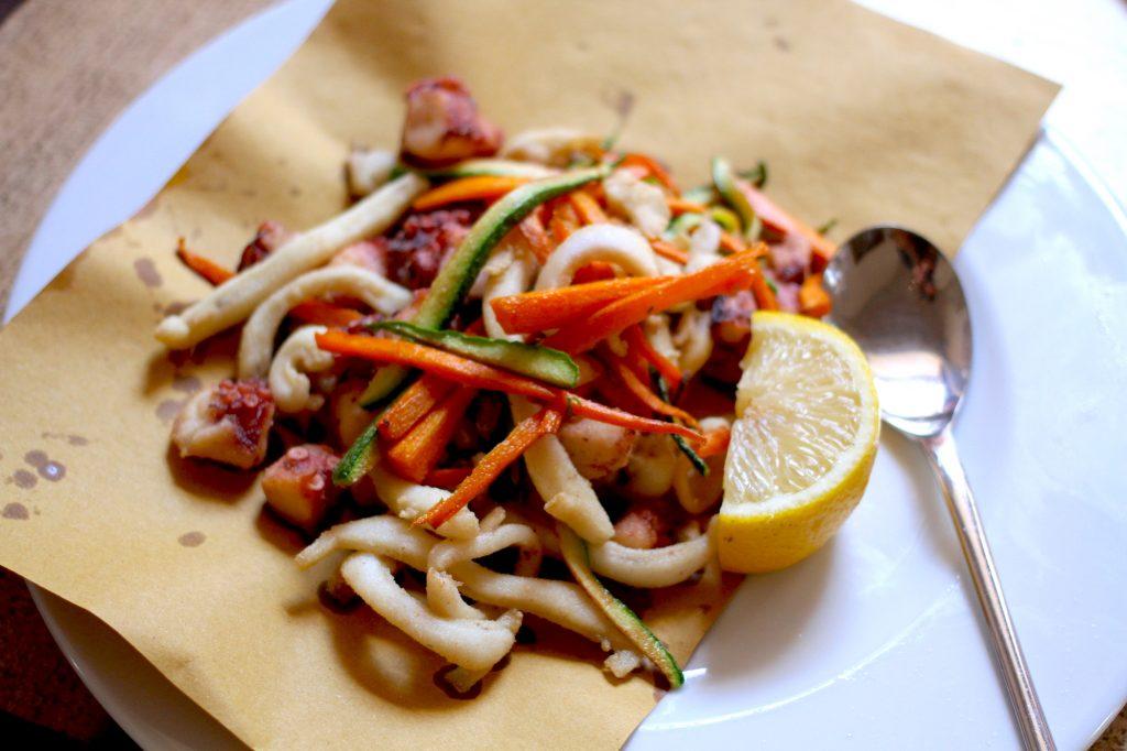 Food in Puglia - delicious Polpo